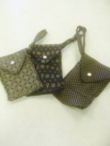 Cell Phone holder/wallet made from men's tie.