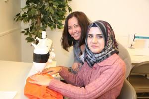 Student helping student Mona 2015