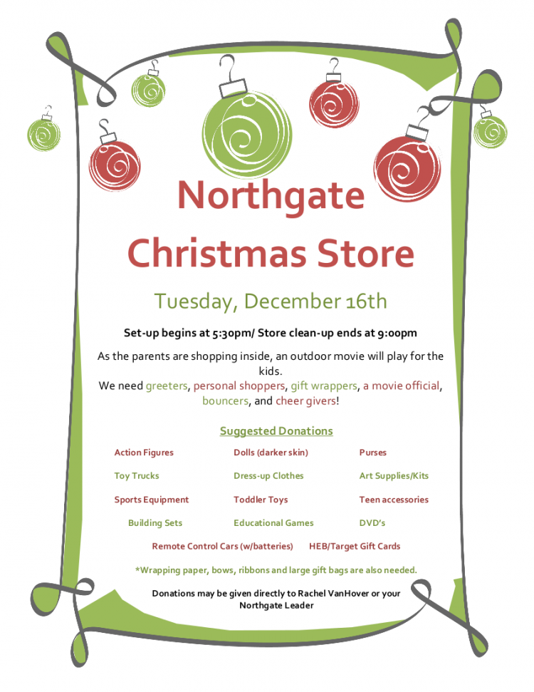 Christmas Store Flier