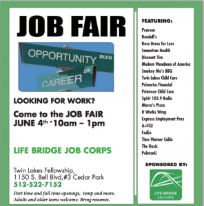 Job fair ad from Hill Country News